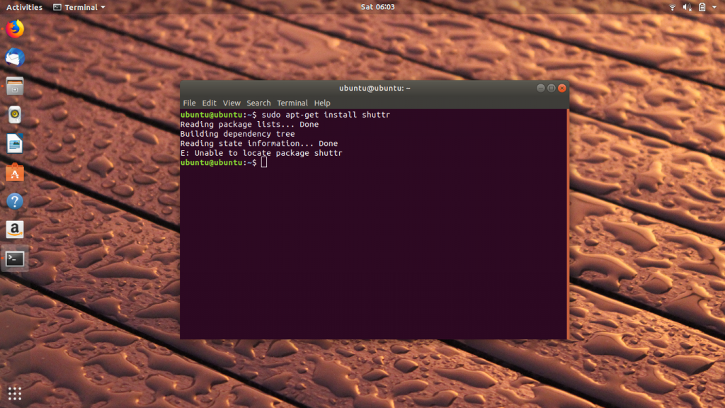 The error message unable to locate package Ubuntu
